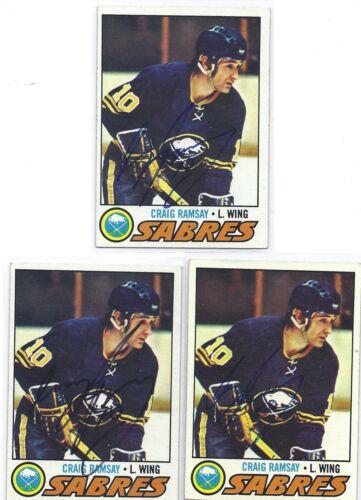 1977-78 Topps #191 Craig Ramsay Buffalo Sabres Autographed Hockey Card