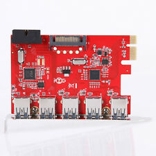 5 Ports USB 3.0 PCI Express PCI-E Card PC Karte Controller Hub Adapter 20/15 Pin