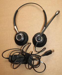 Jabra-Biz-2400-II-USB-2499-829-309-Auriculares-Usado-en-Buena-Condicion