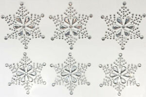 6-LARGE-SNOWFLAKE-SELF-ADHESIVE-STICKERS-RESIN-SPARKLY-DIAMANTE-CHRISTMAS-CARDS