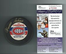 """MAURICE """"ROCKET"""" RICHARD SIGNED MONTREAL CANADIENS PUCK JSA AUTHENTICATED P72200"""