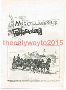 A-Ten-in-Hand-Carriage-Vienna-Austria-Book-Illustration-Print-1895