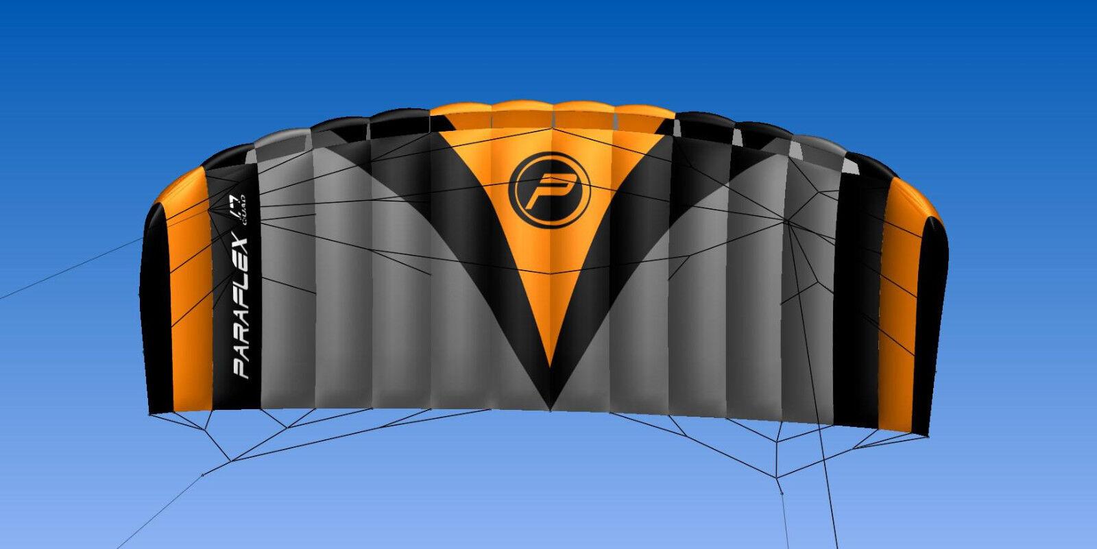 PARAFLEX PARAFLEX PARAFLEX QUAD 1.7  Wolkenstürmer Kite Lenkdrachen Actionkite Lenkmatte fe5d9b