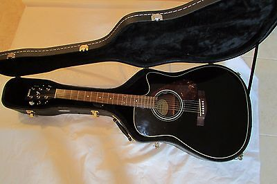 Musical Instruments & Gear Black Come With Hard Case Nice!! Sunny Yamaha Fx370c Electronic Acoustic Guitar