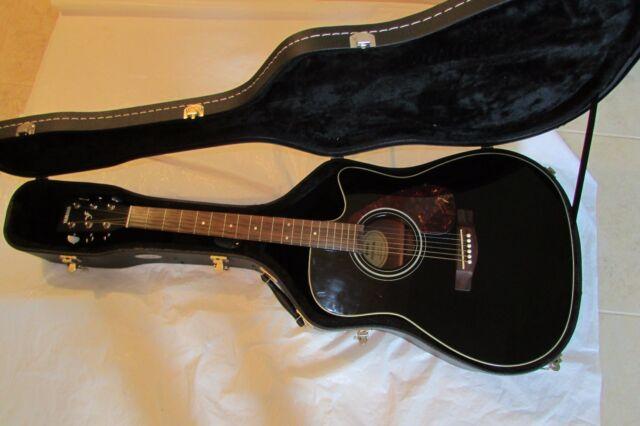 yamaha fx370c electronic acoustic guitar black comes with hard case ebay. Black Bedroom Furniture Sets. Home Design Ideas