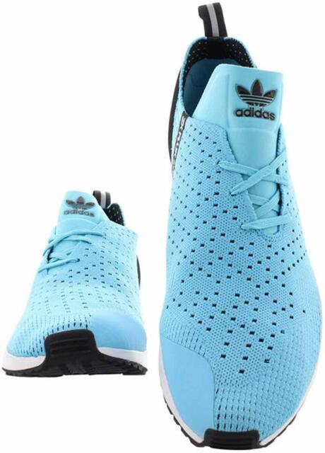Adidas ZX Flux Racer Primeknit Men Athletic Shoes Blue GlowCore Black Sneakers