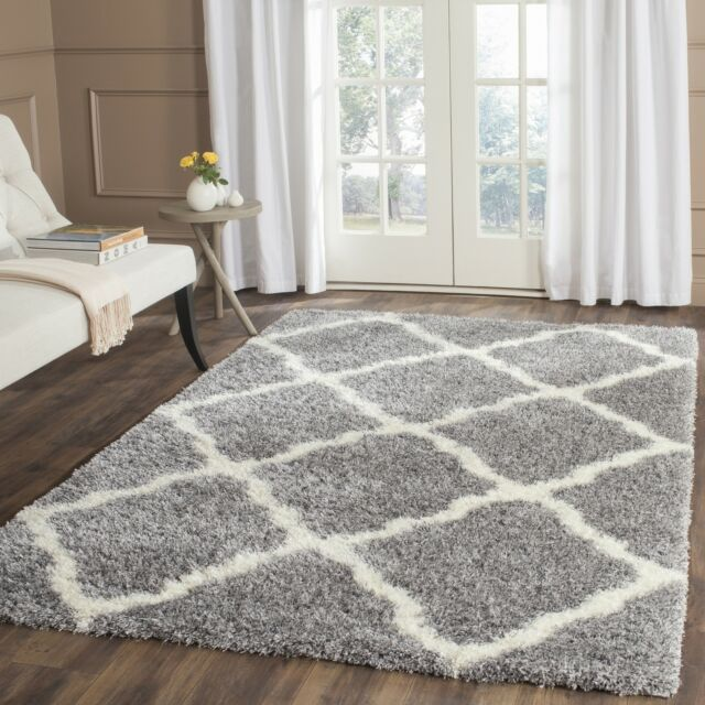 Safavieh Montreal Shag Grey/ Ivory Polyester Rug (3' x 5')