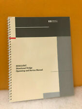 Hp 85021 90019 85021abc Directional Bridge Operating And Service Manual