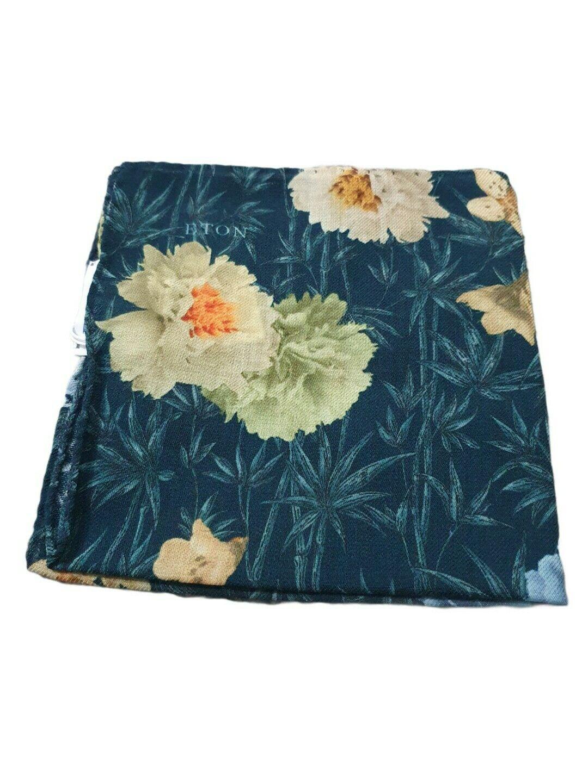 Eton Shirts - Floral Green Wool Pocket Square BNWT RRP