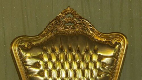 THRONE / ARMCHAIR BAROQUE STYLE PALACE THRONE GOLD # AS28.
