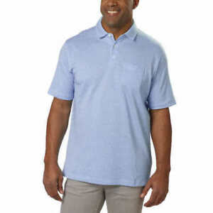 NWOT-Cypress-Club-Men-039-s-Short-Sleeve-Polo-BLUE-LARGE