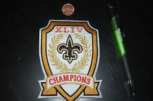 super bowl xliv 44 5quot new orleans saints champions logo