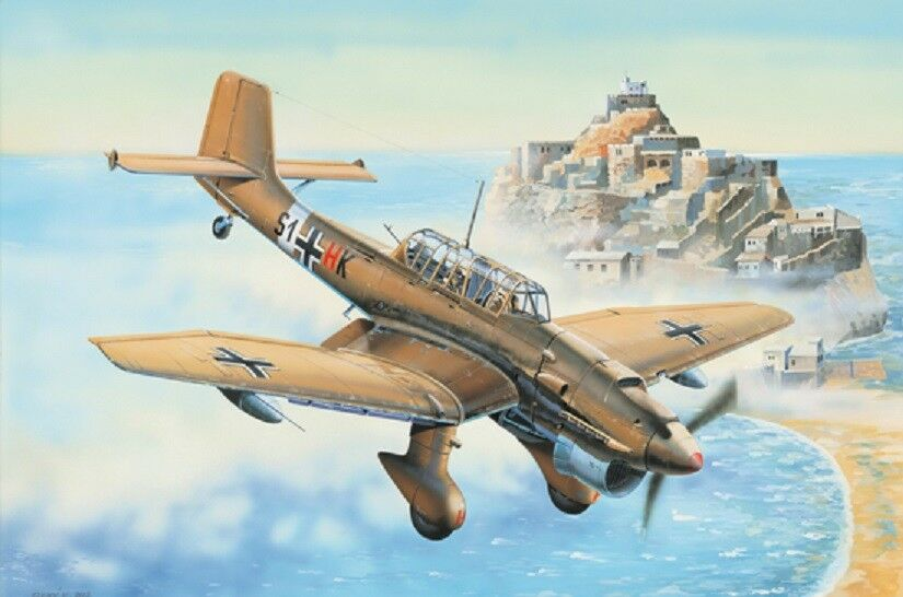 Trumpeter 1 32nd scale German Junkers Ju 87R Stuka plastic model kit.