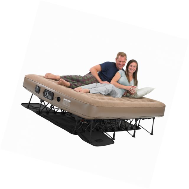 Instabed EZ Bed Never Flat Pump Queen-size Raised Airbed Tan