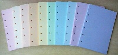 Assorted Pastel + Bright Paper to fit  Filofax Pocket Organiser - 100 sheets
