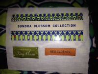 Anthropologie Sundra Blossom Quilted King Shams