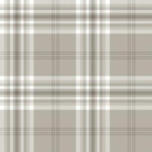Mushroom-White-Taupe-Check-Wallpaper-Country-Tartan-Plaid-Stripe-Muriva-Kelso