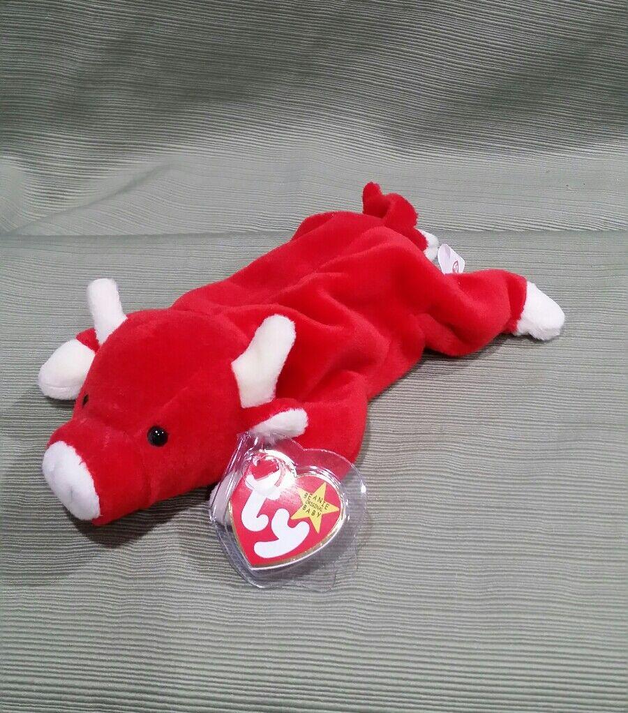 Ty Beanie Baby Snort the Bull DOB 5-15-95
