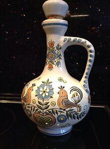 Ulmer-Keramik-Paradiesvogel-Krug-Karaffe-Schnappskrug