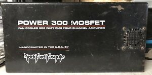 Old-School-Rockford-Fosgate-Power-300-COVER-ONLY-RARE-USA-RF-vintage