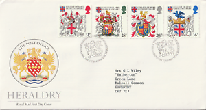 17 Janvier 1984 Héraldique Royal Mail First Day Cover Bureau Shs (c)-afficher Le Titre D'origine