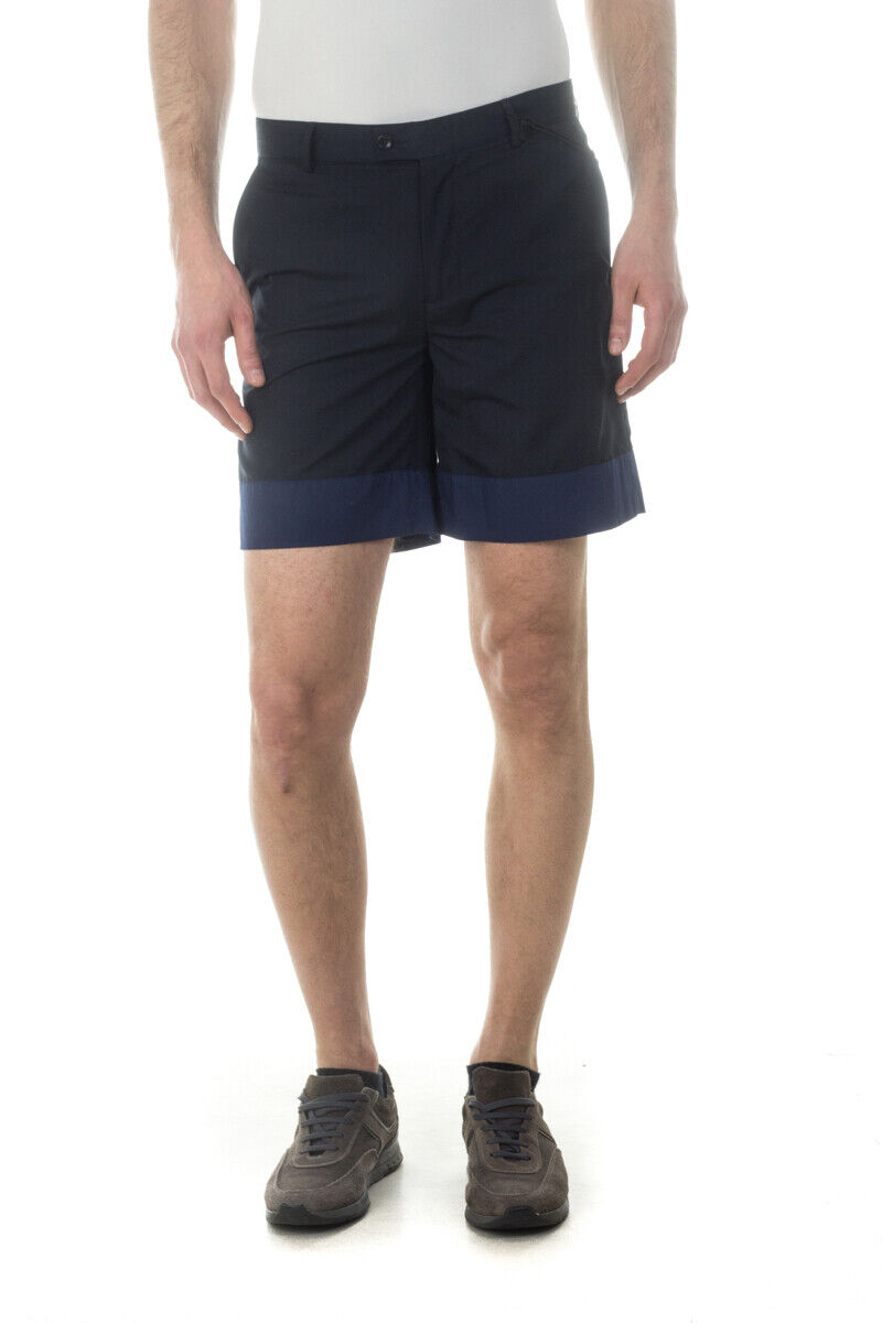 Bermuda Daniele Alessandrini Short MADE IN ITALY men blue E285S18133602