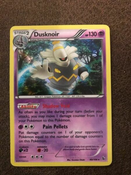 Flashfire Holo Rare NM-Mint Pokemon XY 40//106 1x Dusknoir