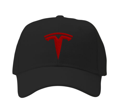 TESLA inspired cap Hat Gift Fan Elon Logo Model Embroidered Musk Boring