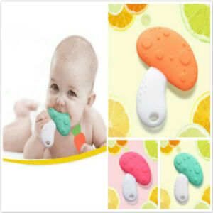 Baby Teether Silicone Cookie Safety Teething Chewing Training Toddler Toys Gifts