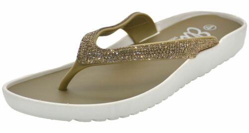 Women Sparkle Flip Flop Diamante Sandals Trim Pool Beach Ladies Toe Post Slipper