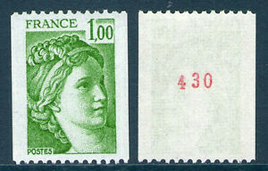 TIMBRE 1981Aa NEUF XX LUXE - SABINE DE GANDON - ROULETTE N° ROUGE
