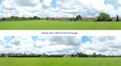Hills /& Dales 10ft long OO I D Backscenes 207D Photo Backscene 15 inches high
