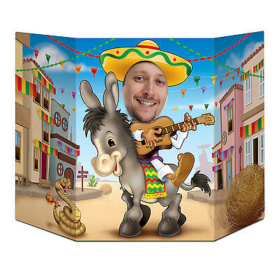 Mexican Style Donkey & Sombrero Photo Prop - 94 cm - Fiesta Party Decoration