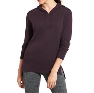9eccd7f5 ATHLETA Winding River Hoodie Sweater, NWOT, Large, Wild Raisin  nrhwwg6809-Activewear Tops