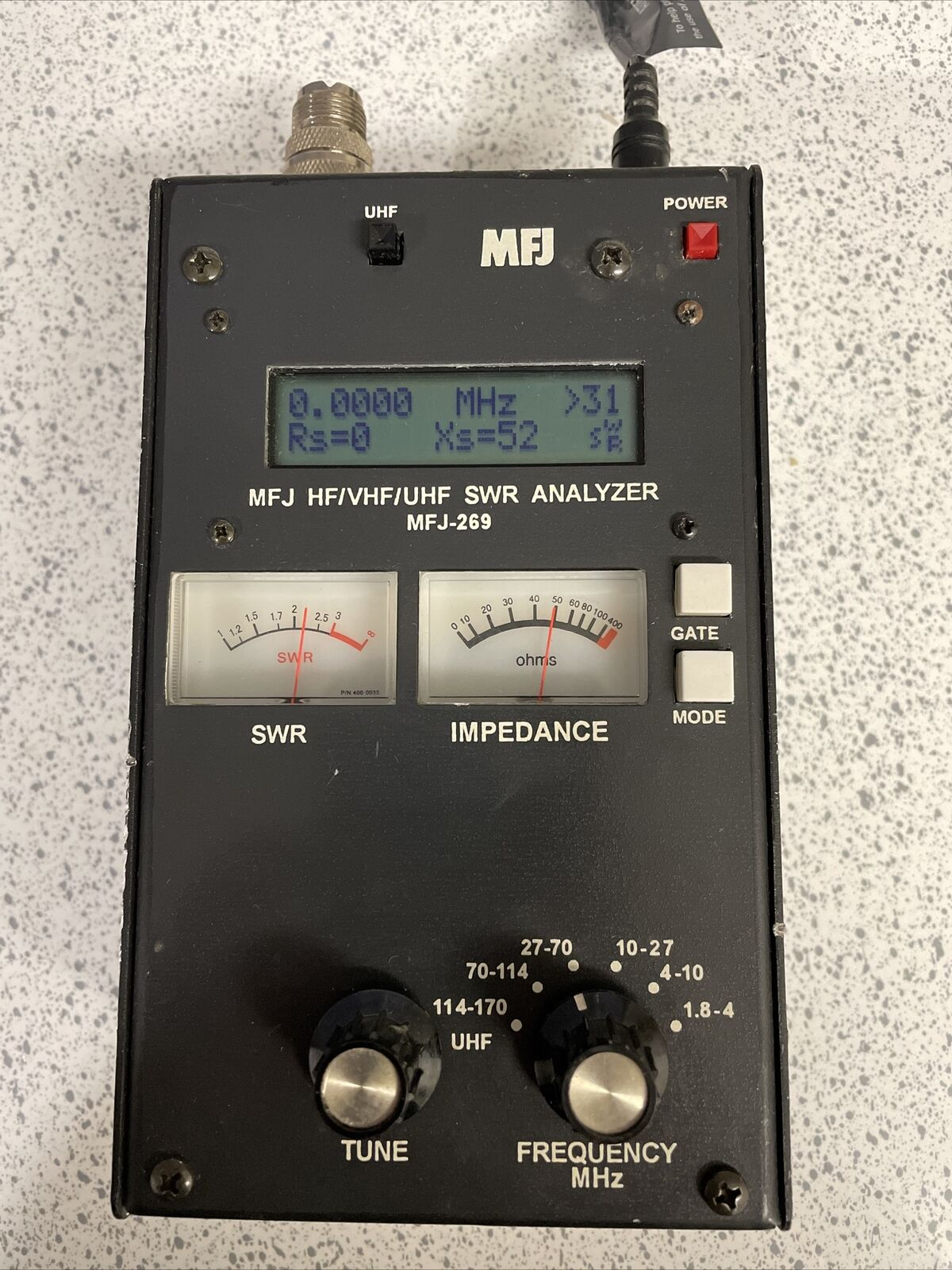 MFJ-269 HF/VHF/UHF SWR Analyzer (No Power Cord). Buy it now for 235.99