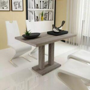 Detalles de vidaXL Mesa de Comedor Trabajo Salón Cocina Mueble Diseño  Madera MDF Color Roble