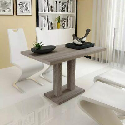 vidaXL Mesa de Comedor Trabajo Salón Cocina Mueble Diseño Madera MDF Color Roble