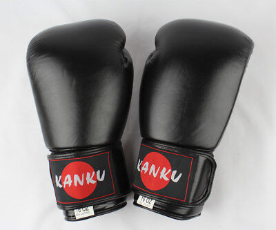 16 Oz  Cow Lather for Training Sparring Bag 14 Kanku Boxing Gloves Brown 12