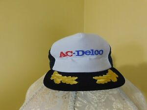 50d6b36143d Image is loading Pre-Owned-AC-Delco-Truckers-Mesh-Back-Snapback-