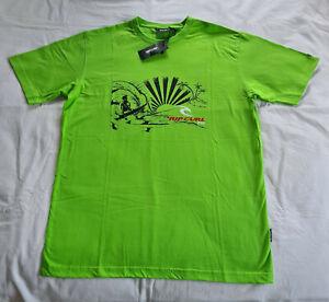Ripcurl-Fiji-Mens-Green-Island-Printed-Short-Sleeve-T-Shirt-Size-L-New