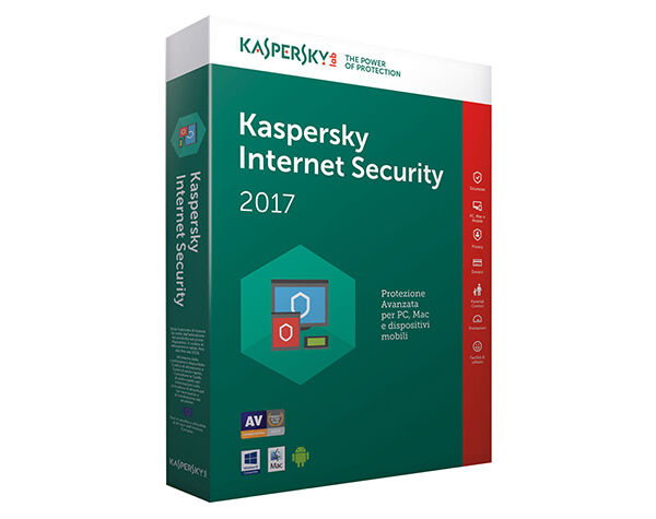 Kaspersky Internet Security 2017 1 Anno 1 PC/Mac Global Key Digital Download ESD