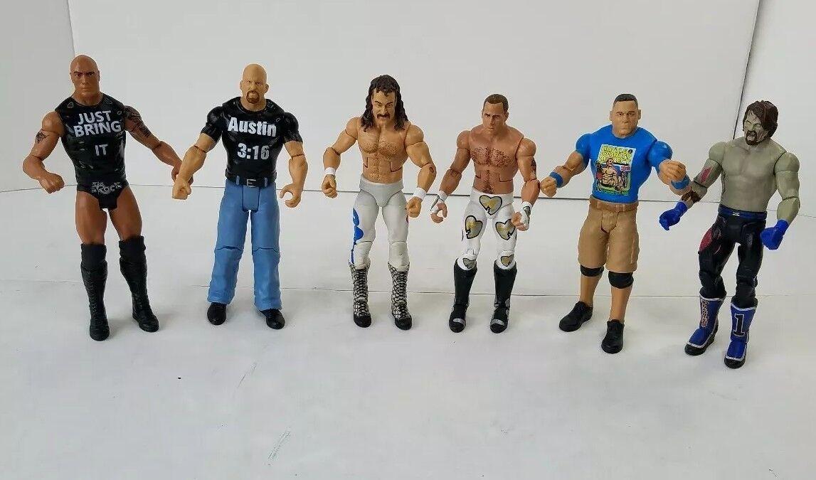 Mattel WWE 6-Lot Loose Action Figures 2011-2016