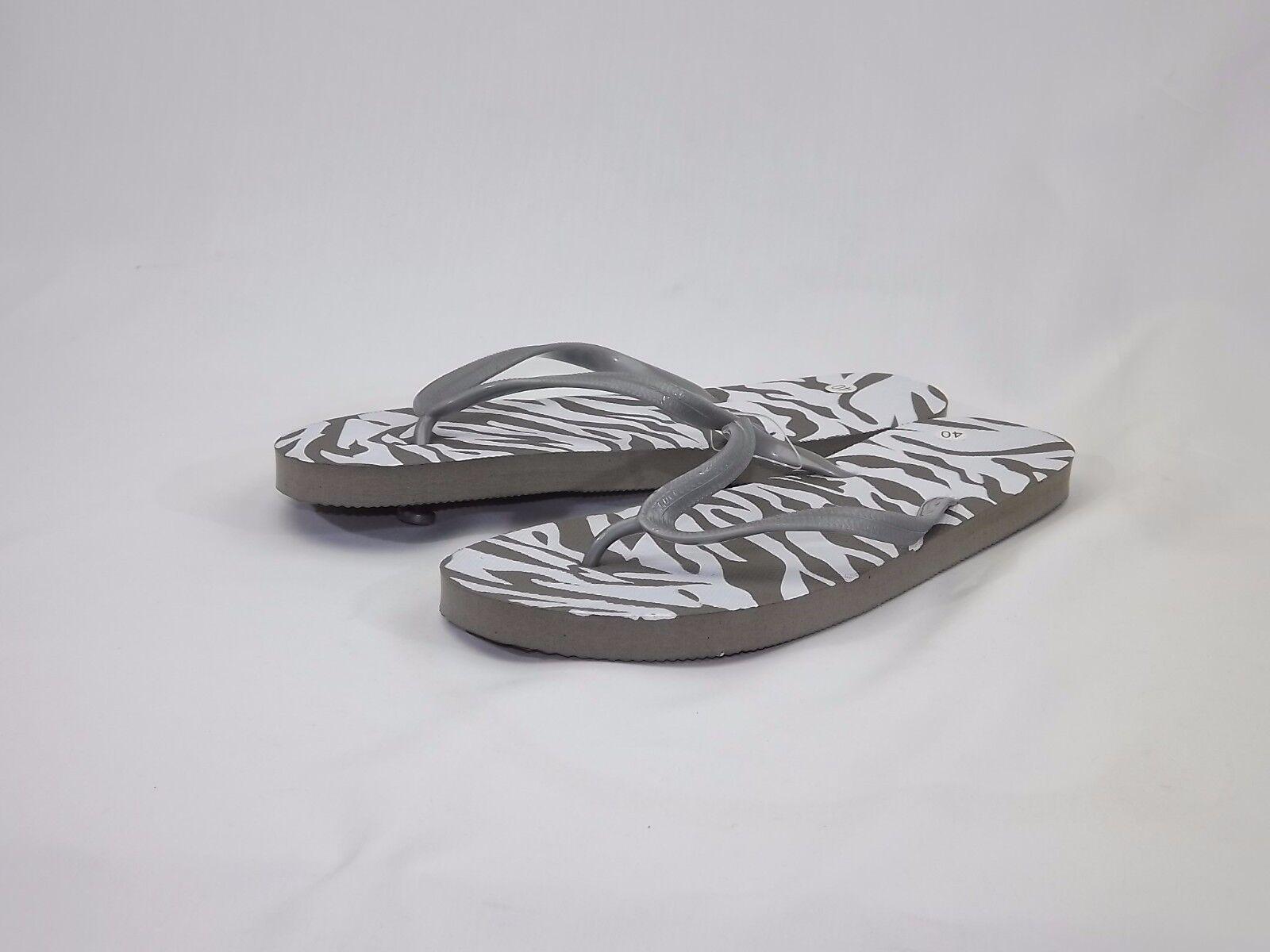 Ladies' Mens Sandal Beach Holiday Casual FlipFlop Sandal Mens Unisex Zebra Pattern  All Size 651254
