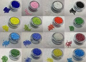 50g-Glass-Seed-Beads-11-0-2mm-8-0-3mm-6-0-4mm-COLOUR-CHOICE