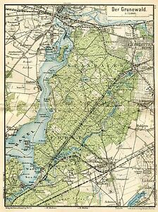 MAP-ANTIQUE-1898-KIESSLING-GRUNEWALD-HAVEL-OLD-LARGE-REPRO-POSTER-PRINT-PAM0383