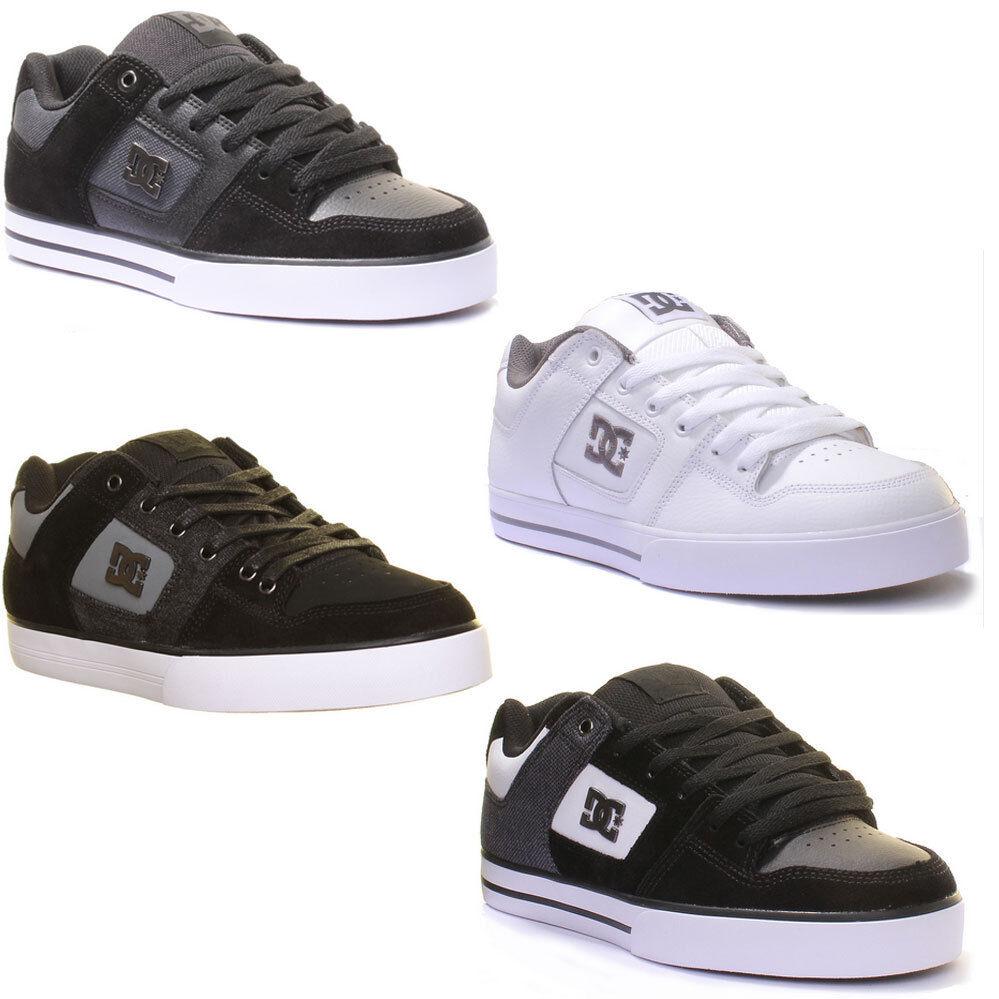 Dc Shoes Pure Se Mens Vulcanized Trainers Metalic Emblem Nubuck Leather Trainers Vulcanized f3f3da
