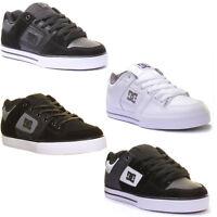 Dc Shoes Pure Se Mens Vulcanized Metalic Emblem Nubuck Leather Trainers