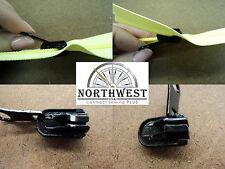 YKK  Reversable Slider use for # 8 Coil Zipper - Reverse Pull Black- 2 Sliders