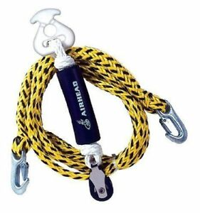 s l300 airhead rope boat tow harness ski water sports tube hooks line