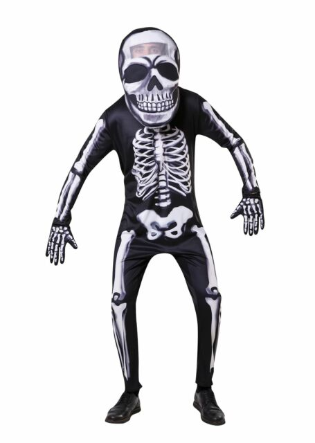Adult Skeleton Bones Unisex Costume Fancy Dress Halloween Outfit